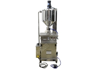Vertical filling machine with heater&mixer
