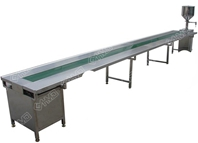 Conveyor with both side work table