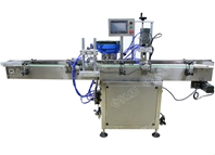 Automatic screw capping machine with cap feeding machine