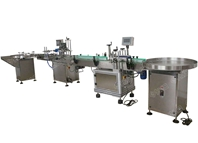 Turntable,capping and labeling machines
