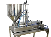 Single head rotary valve filling machine with diving nozzle