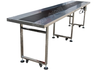 PVC conveyor with both side shelf