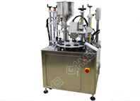 Semi auto cosmetic tube filling and sealing machine