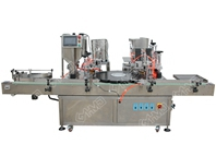 auto roll on filler,ball pressing,cap feeding and capping machine